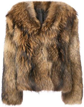 RtA cropped fur coat