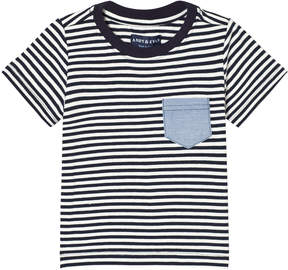 Andy & Evan Navy and White Striped T-shirt with Pocket