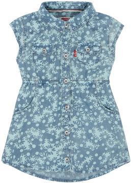 Levi's Baby Girl Flower-Print Denim Dress
