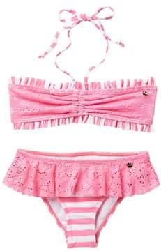 Juicy Couture Black Label Crochet Bandeau Bikini (Big Girls)
