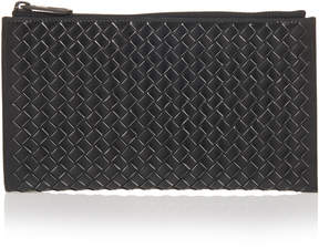 Bottega Veneta Black Intrecciato Leather Case