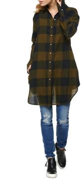 Dex Button Up Tunic Dress