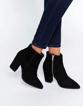Carvela Sarah Black Suede Pointed Ankle Boots