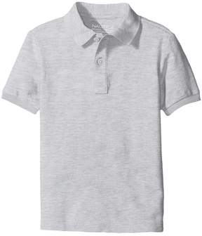 Nautica Husky Short Sleeve Pique Polo Boy's Short Sleeve Pullover
