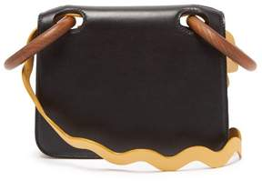 Roksanda Neneh Wave Strap Leather Cross Body Bag - Womens - Black