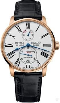 Ulysse Nardin Marine Chronometer Torpilleur Automatic White Dial Men's Watch