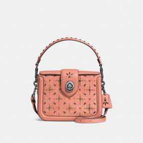 COACH COACH PAGE CROSSBODY WITH PRAIRIE RIVETS - MELON/DARK GUNMETAL