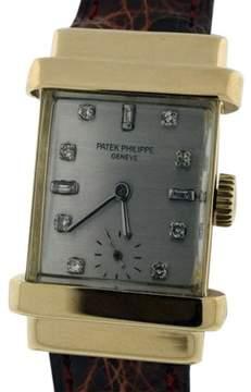 Patek Philippe 1450J Top Hat 18K Yellow Gold & Diamond Dial Vintage Mens Watch