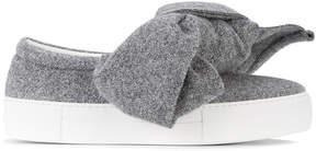 Joshua Sanders lurex bow embellished sneakers