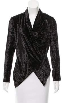 Blank NYC Crushed Velvet Asymmetrical Jacket w/ Tags