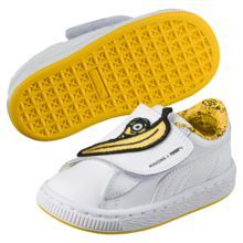 Puma Minions Basket Wrap Statement Leather Kids Sneakers
