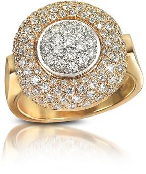 Forzieri 1.49 ct Diamond Pave 18K Gold Ring