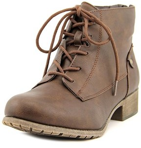 Jellypop Grant Women Round Toe Synthetic Brown Bootie.