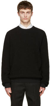 Calvin Klein Collection Black Textured Sweater