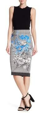 ECI Patterned Pencil Skirt