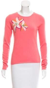 Christopher Fischer Cashmere Floral Print Sweater