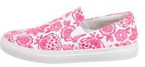 Christopher Kane Floral Slip-On Sneakers w/ Tags