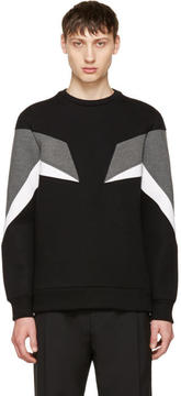 Neil Barrett Tricolor Modernist Sweatshirt