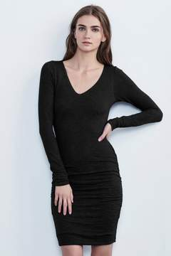Velvet by Graham & Spencer CYNTHIA TEXTURED KNIT LONG SLEEVE DRESS