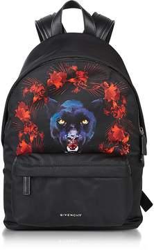 Givenchy Black Nylon Jaguar Printed Small Backpack