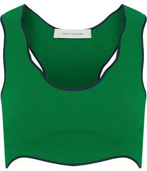 Cédric Charlier Cropped Stretch-Knit Top