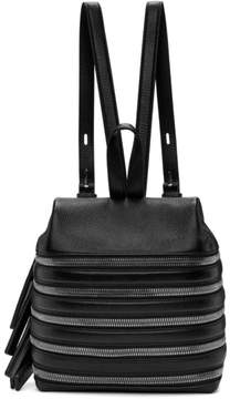 Kara Black Small Multi Zip Backpack