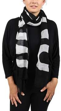 Moschino Scr11235/13 Black/white Signature Scarf.