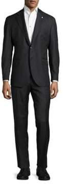 Lubiam Herringbone Wool Suit