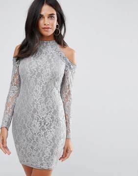 AX Paris Lace 3/4 Sleeve Midi Dress