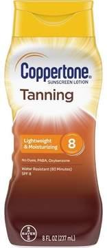 Coppertone Sunscreen Tanning Lotion - SPF 8 - 6oz