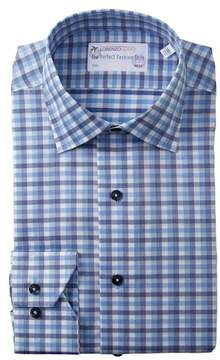Lorenzo Uomo Multi Gingham Trim Fit Dress Shirt
