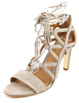 Elie Tahari Hurricane Women Open Toe Suede Gray Sandals.