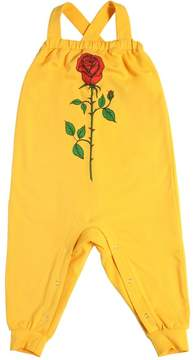 Mini Rodini Rose Print Organic Cotton Jersey Romper