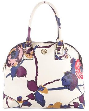 Tory Burch Floral Printed Handle Bag - NEUTRALS - STYLE