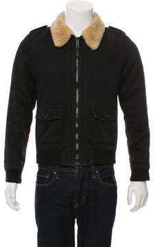 Christian Dior Sherpa-Trim Denim Jacket
