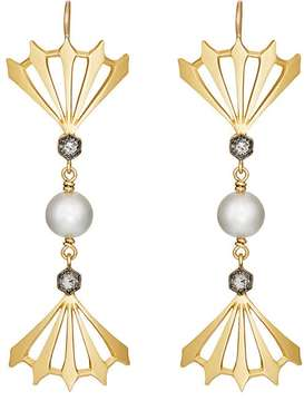 Cathy Waterman Women's Triple-Drop Earrings