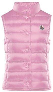 Moncler Liane Down Lightweight Down Puffer Vest, Pink, Size 4-6