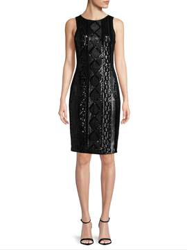 Adrianna Papell Women's Sequin Patterned Sheath Dress