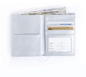 Royce Leather Royce Silver RFID Blocking Passport Document Wallet