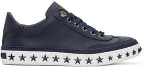 Jimmy Choo Navy Star Sole Ace Sneakers
