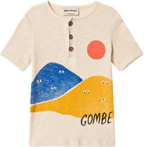 Bobo Choses Cream Mountains Buttons T-Shirt