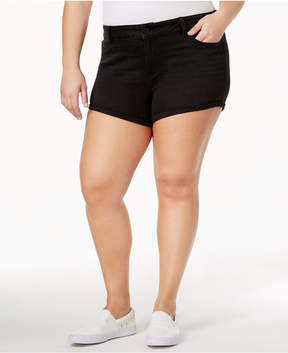 American Rag Trendy Plus Size Ripped Denim Shorts, Created for Macy's