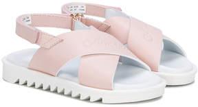 Emporio Armani Kids crossover strap sandals