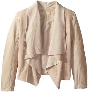 Blank NYC Kids Faux Suede Drape Front Jacket in Sunny Days Girl's Coat