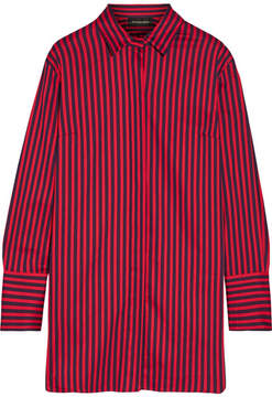 By Malene Birger Frincamma Striped Stretch-cotton Shirt - Red
