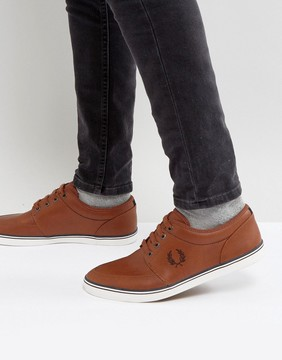 Fred Perry Stratford Leather Sneakers in Tan