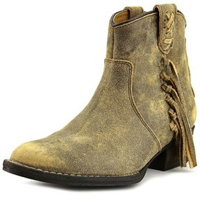Very Volatile Vintage Round Toe Leather Ankle Boot.