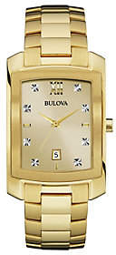 Bulova Men's Diamond & Goldtone Stainless SteelWatch