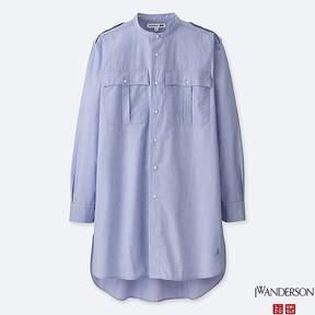Uniqlo Men's Jwa Stand Collar Long-sleeve Shirt