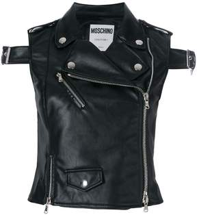Moschino buckled biker gilet